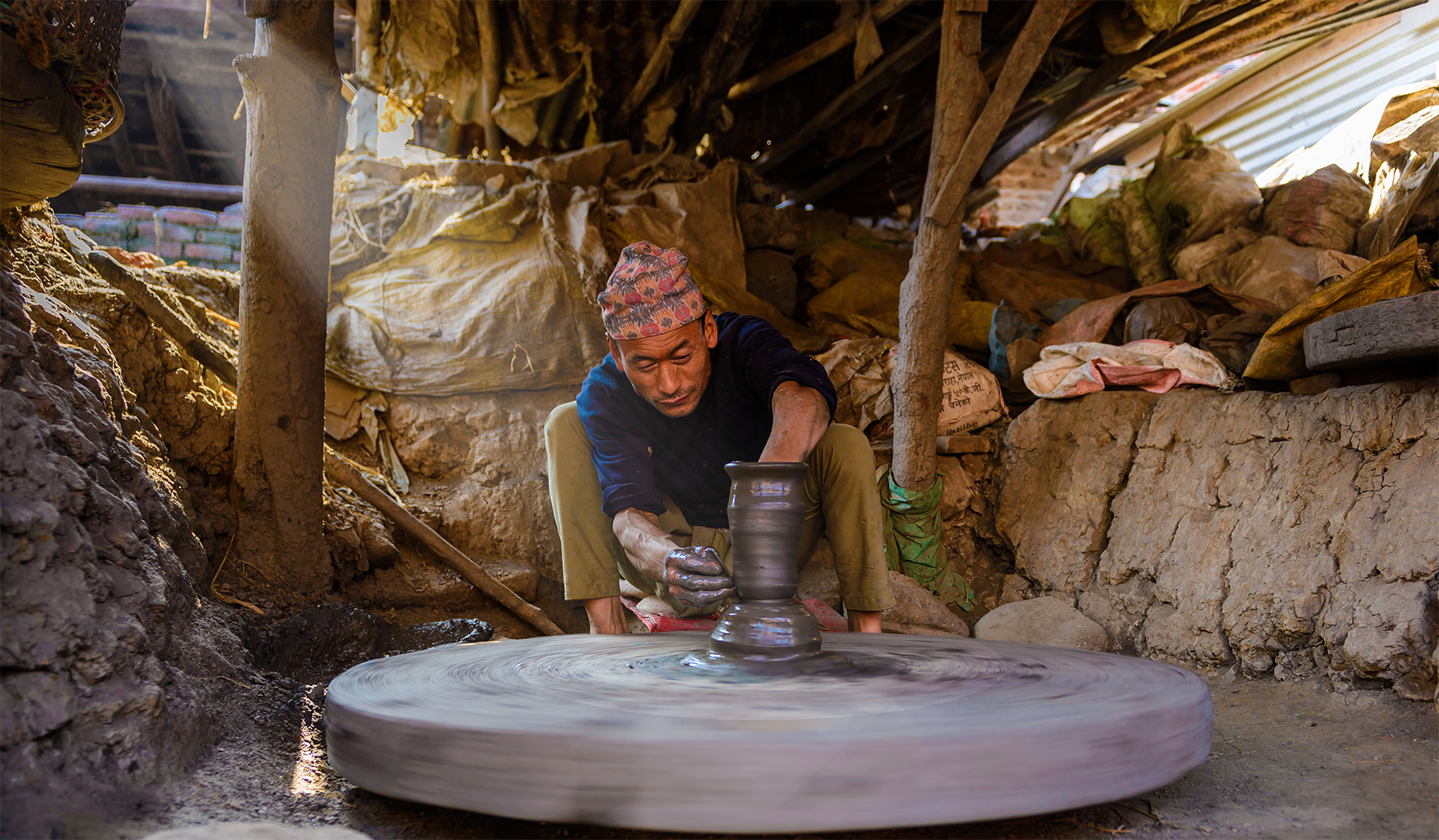 Pottery Maker at Bhaktapur Pottery Square