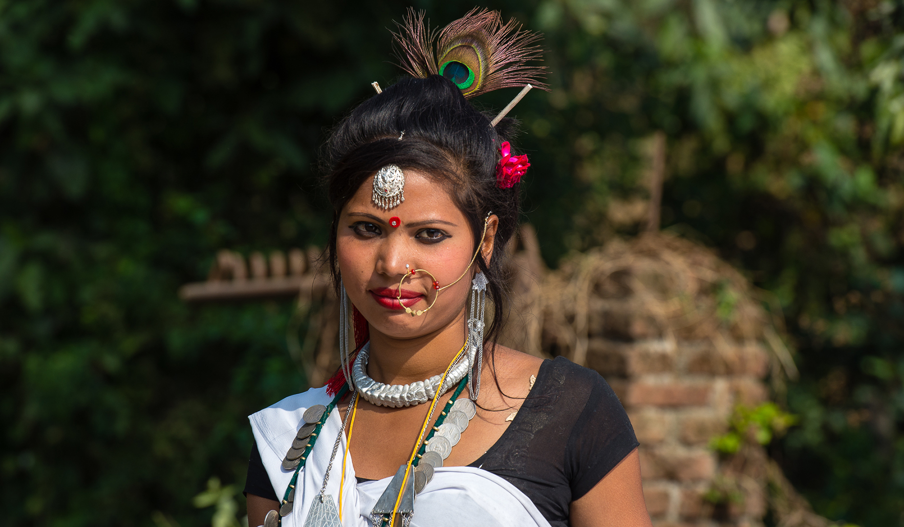 Tharu Girl Traditional Dress